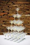 exponeringsglaspyramid royaltyfri fotografi