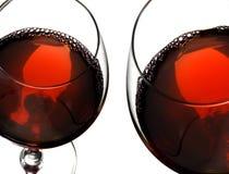 exponeringsglasrött vin royaltyfria foton