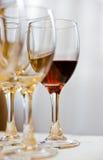 exponeringsglasrött vin Fotografering för Bildbyråer