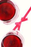 exponeringsglasrött vin Arkivfoton