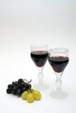 exponeringsglasrött vin Arkivfoto