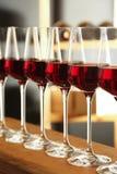 exponeringsglasr?tt vin Dyr drink arkivbild
