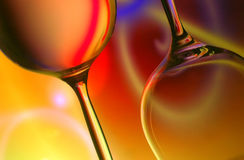 exponeringsglassilhouettewine royaltyfri bild