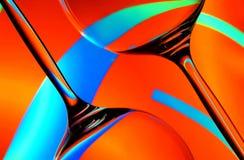 exponeringsglassilhouettewine arkivfoto