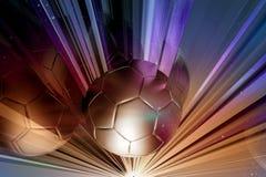 Exponeringsglassnittfotboll Royaltyfria Bilder