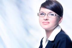 exponeringsglasståendekvinna Arkivfoto