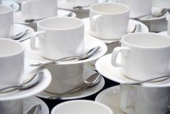 Exponeringsglasuppsättning för kaffeavbrott Arkivbilder