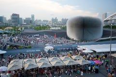 expopaviljong 2010 shanghai uk Arkivbilder