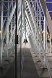 Expoport i Milano 2015, tillfällig struktur royaltyfri foto