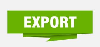 export royaltyfri illustrationer