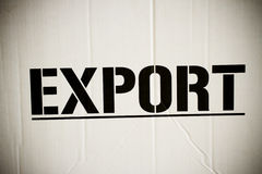 Export box Stock Image