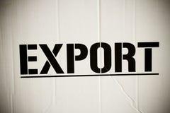 Export box Stock Image