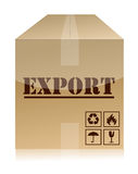 Export box illustration design. Over a white background Stock Photos