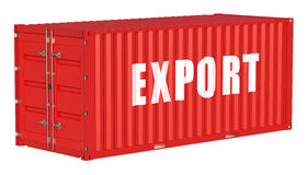 Export concept with cargo container Royalty Free Stock Photo