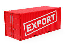 The export container. 3d generated picture of a red export container vector illustration