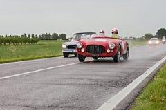 Export Ferraris 212 in Mille Miglia 2013 Stockfotografie