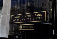 Export Import Bank of the United States Building Sign Royalty Free Stock Photos
