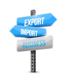 Export import business sign illustration design Royalty Free Stock Photography
