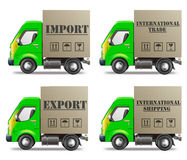 Export or import international trade and delivery stock illustration
