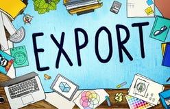 Export Import Logistics Transportation Freight Concept Royalty Free Stock Photos
