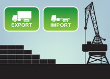 Export import signs,symbols Stock Images