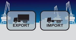 Export import signs,symbols Stock Photo