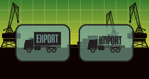 Export import signs,symbols Royalty Free Stock Images