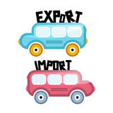 Export Import Vector Bus Icons Royalty Free Stock Photos
