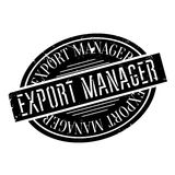 Export Manager rubber stamp Royalty Free Stock Photo