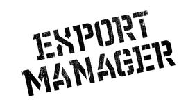Export Manager rubber stamp Royalty Free Stock Photos