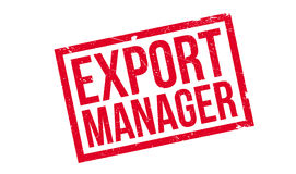 Export Manager rubber stamp Stock Photos