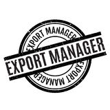 Export Manager rubber stamp Stock Image