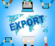 Export Online Means Sell Overseas And Exports Royalty Free Stock Photography