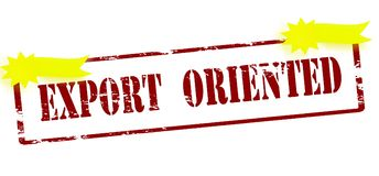Export oriented. Rubber stamp with text export oriented inside,  illustration Stock Photography