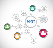 Export people network illustration Royalty Free Stock Photo