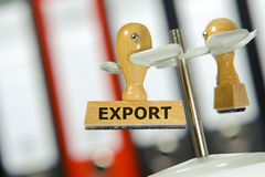Export printed on rubber stamp Stock Photography