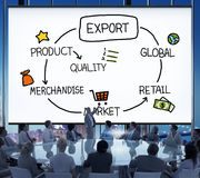 Export Product Merchandise Retail Quality Concept Royalty Free Stock Images