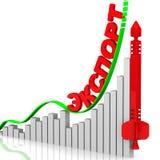 export röd pil på den rutiga bakgrunden vektor illustrationer