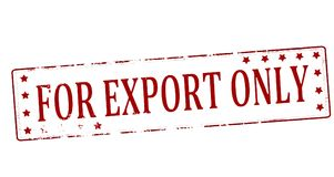 For export only. Rubber stamp with text for export only inside,  illustration Stock Image