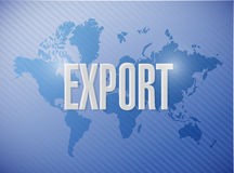 Export sign illustration design Royalty Free Stock Photography
