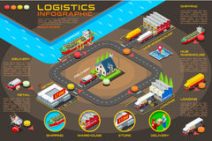 Export Trade Logistics Infographic Vector Icons royalty free illustration
