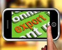 Export In Word Cloud Means Sell Overseas Or Trade Royalty Free Stock Photos