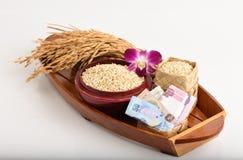 Exportações do arroz de Tailândia fotografia de stock royalty free