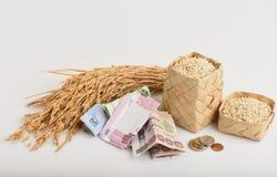 Exportações do arroz de Tailândia fotografia de stock