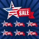 Exportación de los E.E.U.U. del día de los presidentes azul marino stock de ilustración