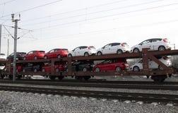 Exportación de los vehículos a otros mercados Fotografía de archivo
