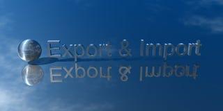 Exportación e importación Imagen de archivo