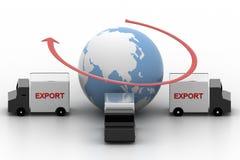 Exportación Van Surrounded Around Earth Fotografía de archivo libre de regalías