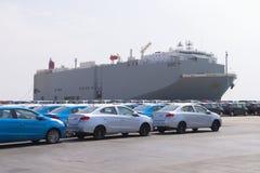 Exportador del coche Fotografía de archivo