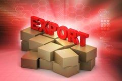 Exportation des boîtes de cargaison Images libres de droits